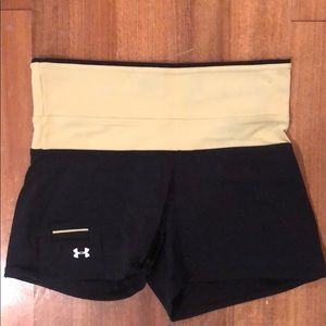 Under Armour Shorts with Fold over waist Small